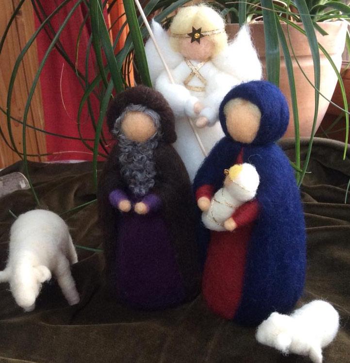 Krippenfiguren Aus Märchenwolle Für Waldorfkrippen