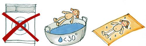 Waschanleitung Bapypuppen
